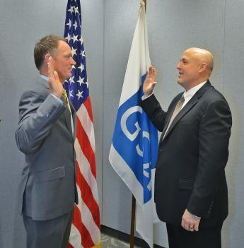 Bruno Kelpsas is sworn in by Chaun Benjamin