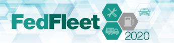 FedFleet Soso logo  with icons in honeycomb shapes