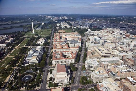 Photo of Aerial Federal Triangle Washington DC