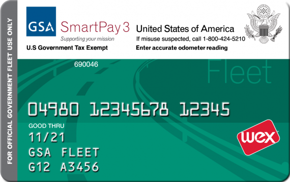 front of gsa fleet services card includes card number in middle of card bottom - Fleet Card Service