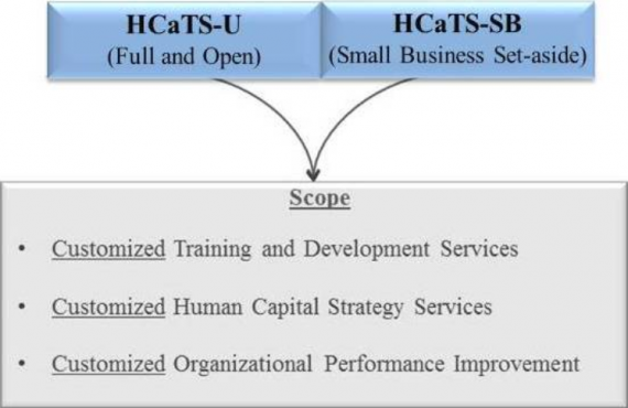 HCaTS is comprised of two IDIQ contract vehicles: