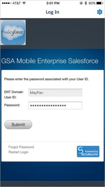 Screenshot of step 7 for salesforce login