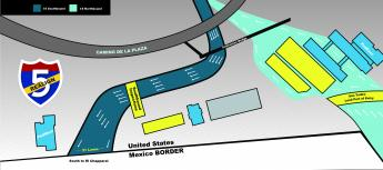 Revised Map of Stage 7 lane openings at San Ysidro Land Port of Entry