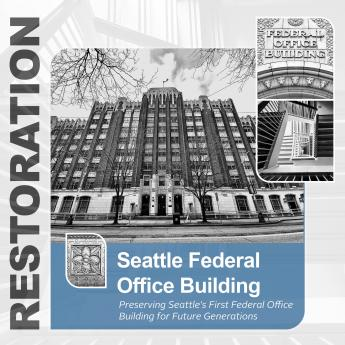 Decorative picture of the Seattle Federal Office Building.