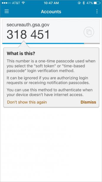 Screenshot of step 8 for secureauth login