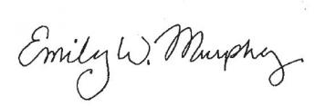 Administrator Emily W. Murphy Signature