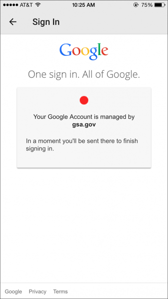 Google Docs GSA - Google docs sign in