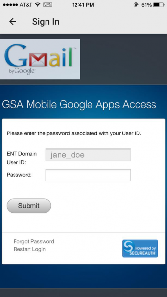 Screenshot of google login step 6