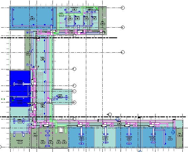Graphic of an example Revit Zone Map