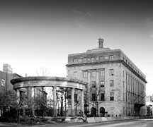Exterior:  Harold D. Donohue Federal Building and U.S. Courthouse, Worcester, Massachusetts