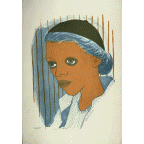 Girl with Blue Hair, Blanche Mary Grambs